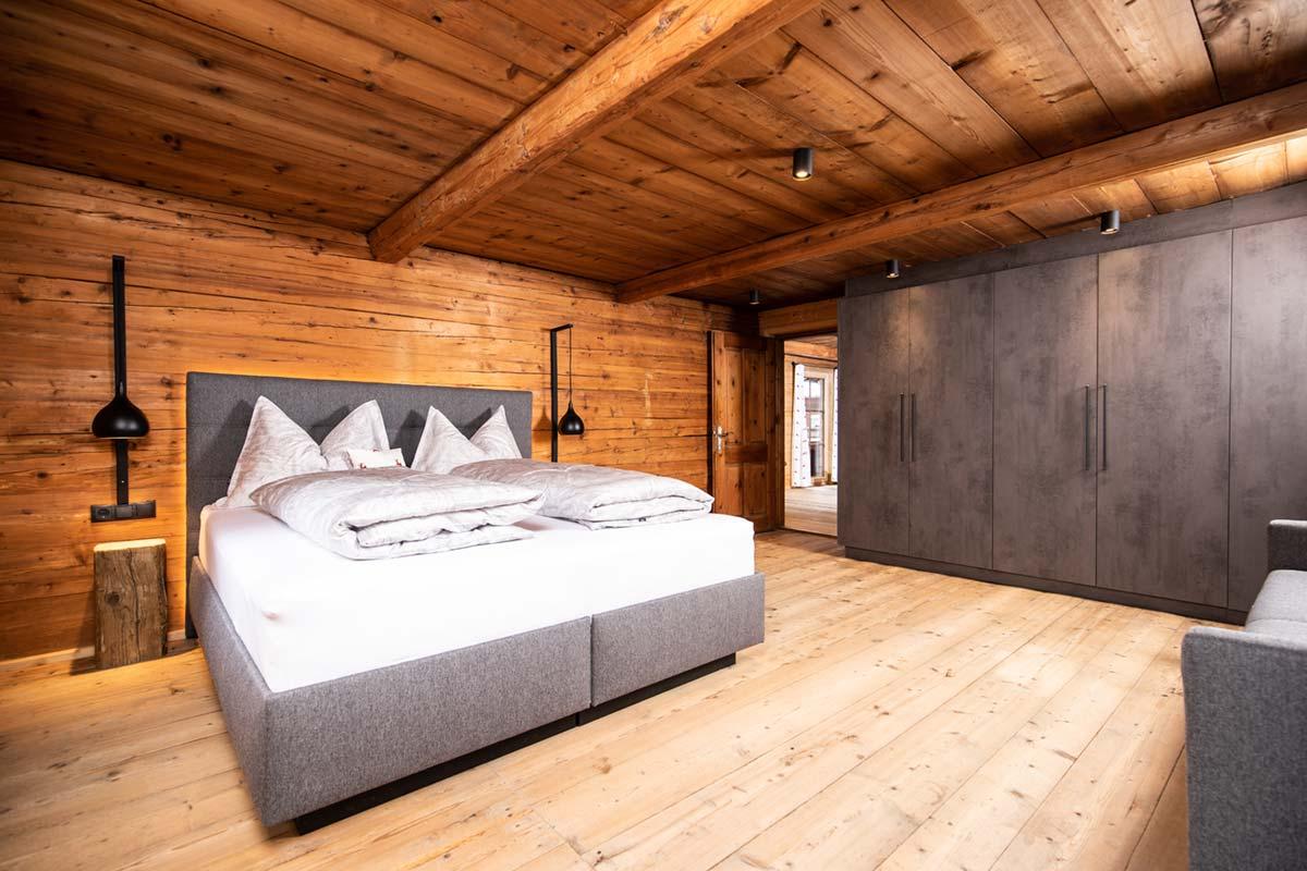 Chalet Alte Schmiede Schlafzimmer