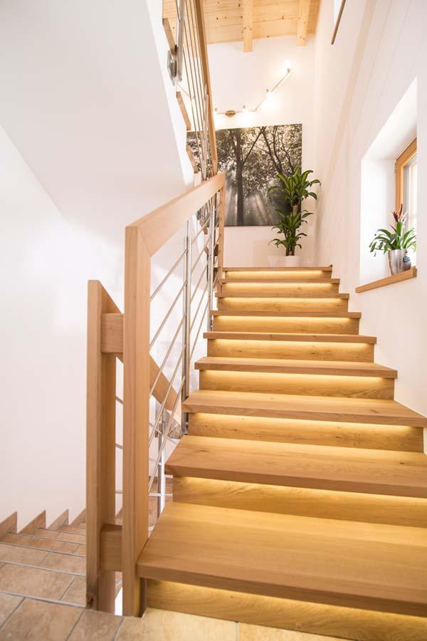 Einfamilienhaus Stiege LED