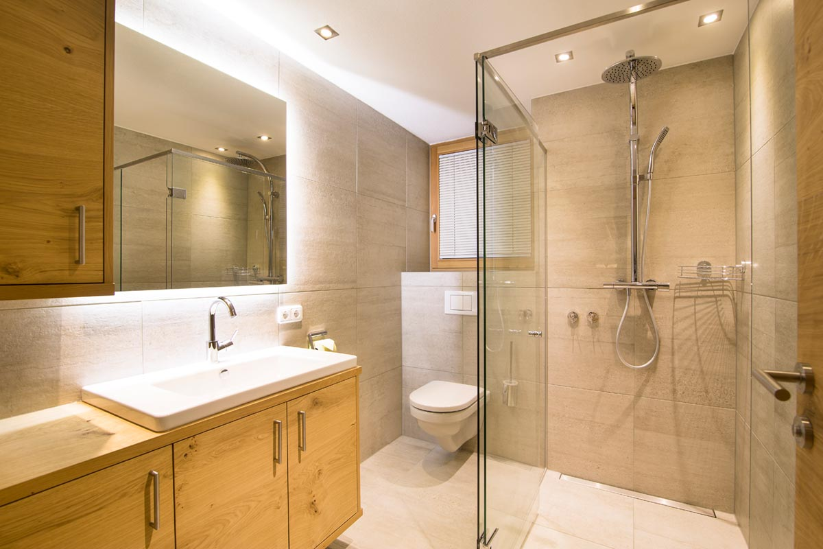 Innovative Charakterwohnung Badezimmer