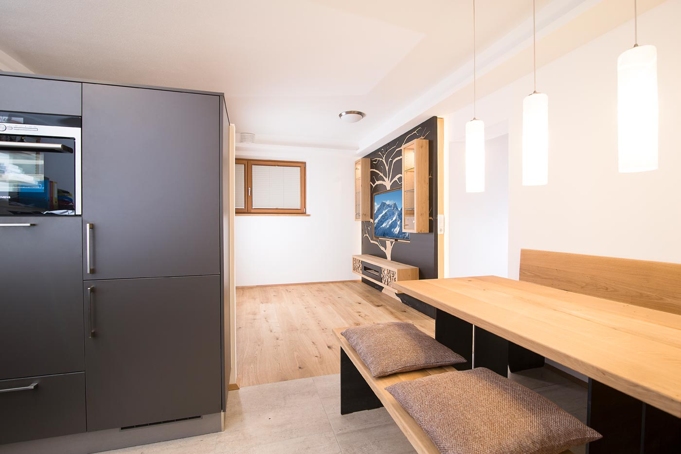 Innovative Charakterwohnung Wohnküche